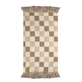 Neutrals Checkerboard Rug (2' X 3')