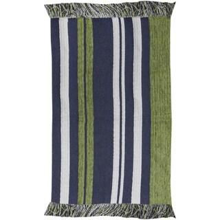 Stripes Blue Rug (2' X 3')