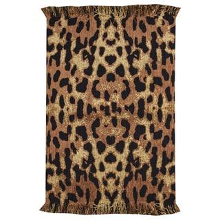 Animal Print Leopard Rug  (4' X 6')