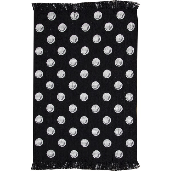Black White Dots Rug