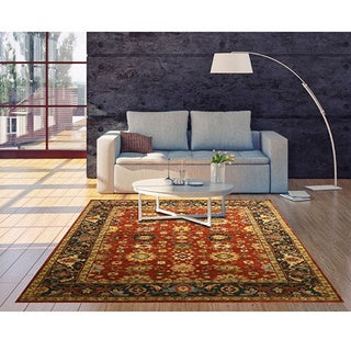 Hand-knotted Wool Rust Traditional Oriental Super Mahal Rug (12' x 18')