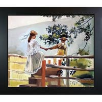 Winslow Homer On the Stile Hand Painted Framed Canvas Art