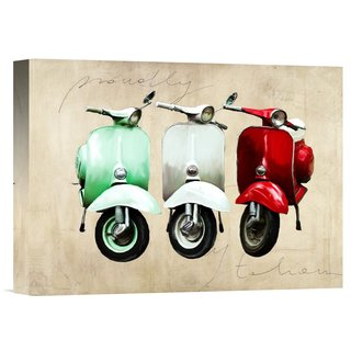 Global Gallery Teo Rizzardi 'Proudly Italian' Stretched Canvas Artwork