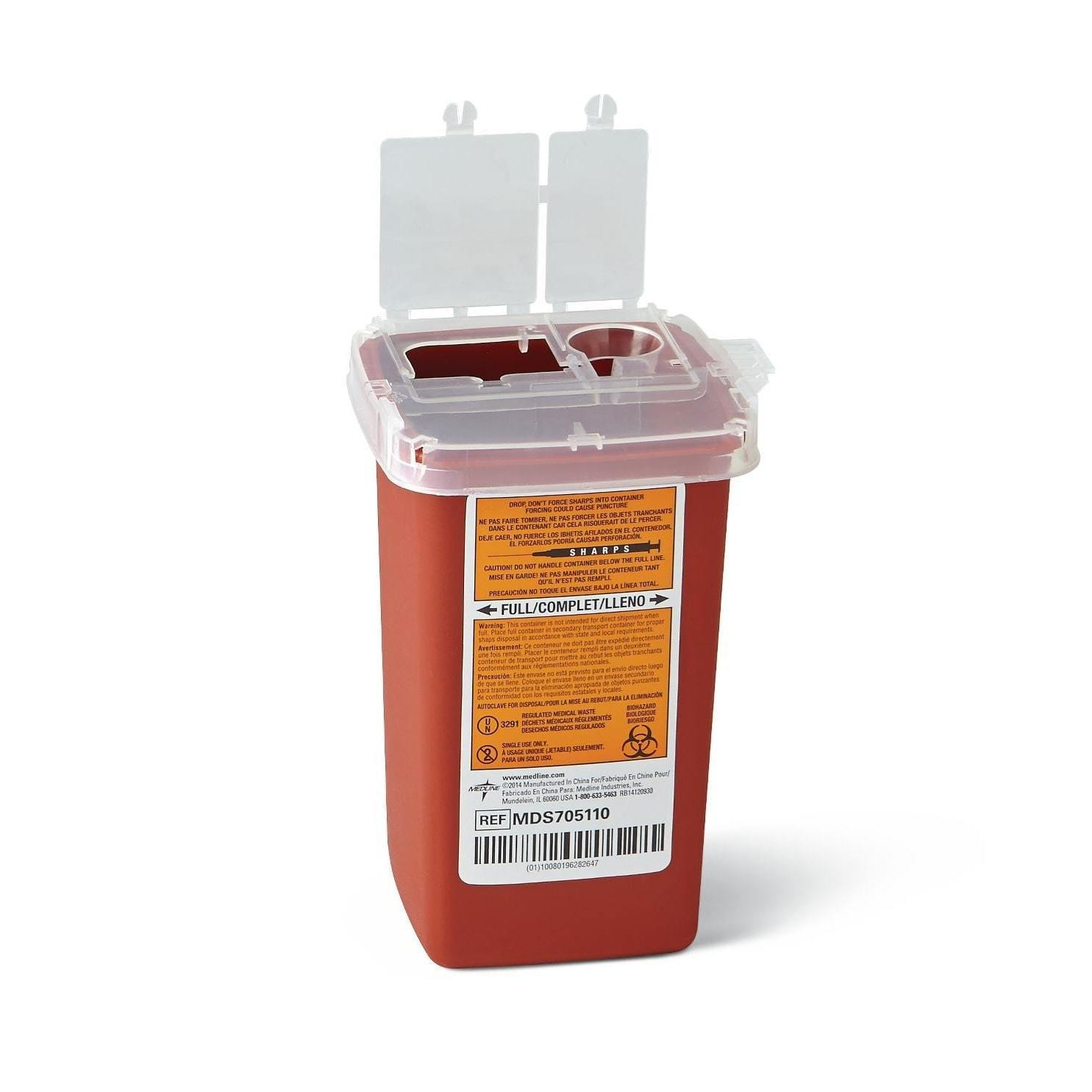 medline 1-quart Phlebotomy Biohazard Sharps Containers (P...