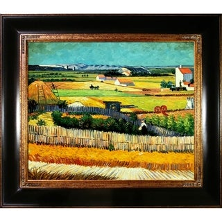 Vincent Van Gogh The Harvest Hand Painted Framed Canvas Art