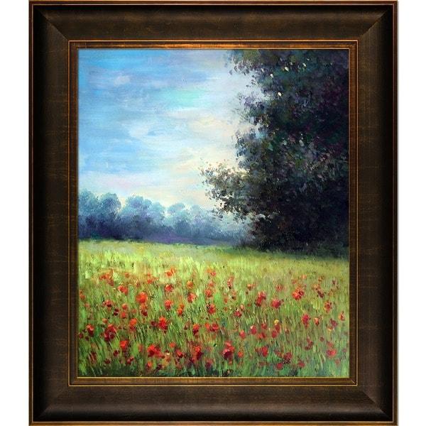 Claude Monet Champ d'avoine (Oat Fields) Hand Painted Framed Canvas Art