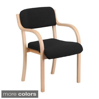 Offex Contemporary Fabric and Wood Side Chair