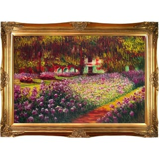 Claude Monet 'Artists Garden at Giverny' Hand Painted Oil Reproduction|https://ak1.ostkcdn.com/images/products/10001934/P17151005.jpg?impolicy=medium