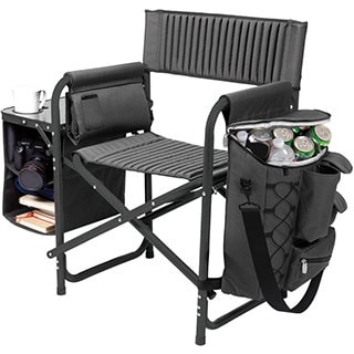 Dark Grey/ Black Budweiser Digital Print Fusion Chair