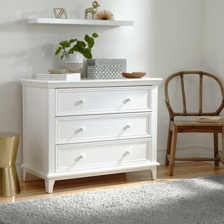Kolcraft 3-drawer White Transitional Dresser