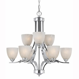 Lumenno Transitional 9-light Chrome Chandelier