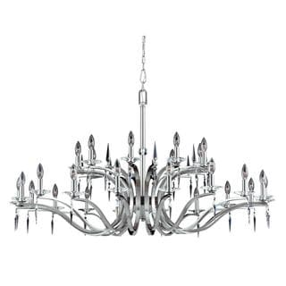 Lumenno Silouette Collection 27-light Satin Nickel Chandelier