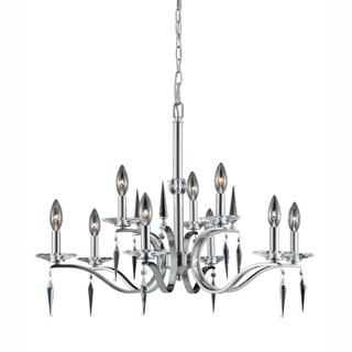 Lumenno Silouette Collection 9-light Satin Nickel Chandelier - Satin Nickel