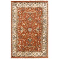 Hand-Knotted Jon Border New Zealand Wool Area Rug - 8' x 11'