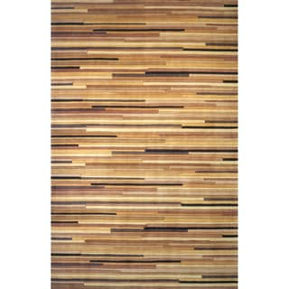Momeni New Wave Natural Hand-Tufted and Hand-Carved Wool Rug (2' X 3')