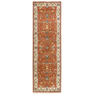 Hand-Knotted Jon Border New Zealand Wool Rug (2'6 x 8')
