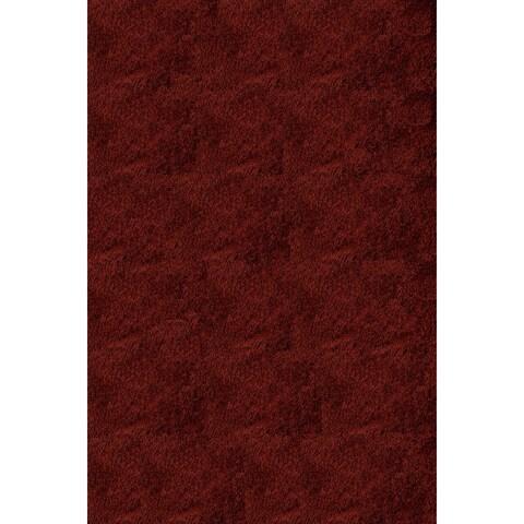 Momeni Luster Shag Brick Hand-Tufted Shag Rug (2' x 6')