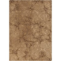 Hand-Tufted Neston Damask Pattern Wool Area Rug - 8' x 10'