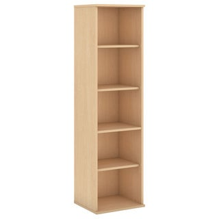BBF Collection 66-inch 5-shelf Narrow Wooden Bookcase