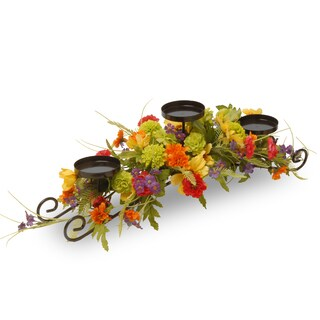 30-inch Cosmos Mixed 3-candle Holder