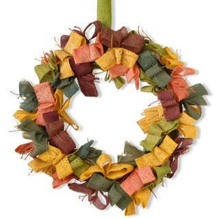 22-inch Easter Wreath with Mixed Color Burlap