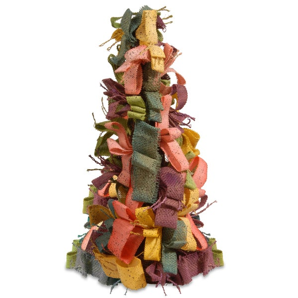 21-inch Easter Tree with Mixed Color Burlap