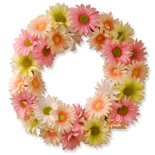 Pink/ White 19-inch Cosmos Wreath (Option: Pink)