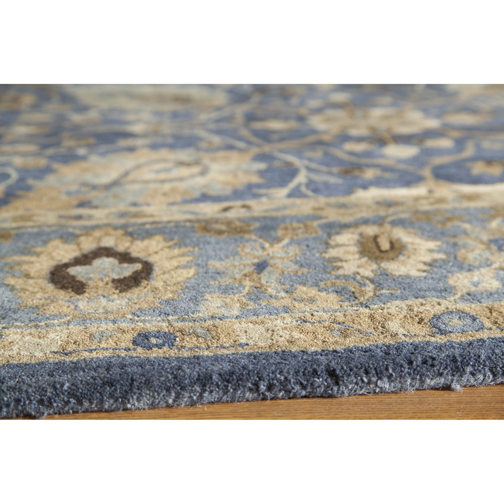 Momeni Zarin Blue Hand Tufted Wool Rug 5 6 X 8