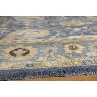 "Momeni Zarin Blue Hand-Tufted Wool Rug - 5'6"" x 8'6"""