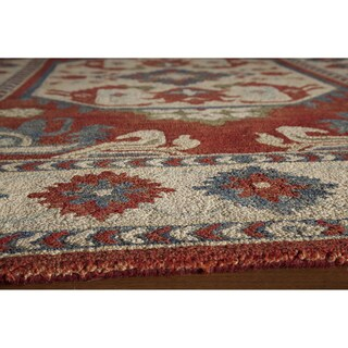 Momeni Tangier Ivory Hand-Tufted Wool Rug - 5' x 8'