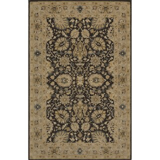 "Momeni Zarin Charcoal Hand-Tufted Wool Rug (5'6 X 8'6) - 5'6"" x 8'6"""