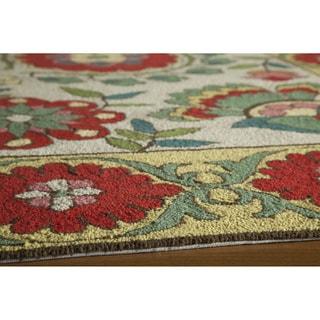 Uzbek Cottage Hand Hooked Wool Indoor Rugs (5' x 8')