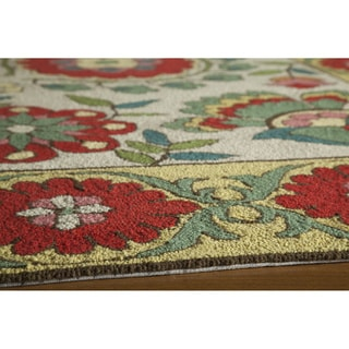 Momeni Suzani Hook Beige Hand-Hooked Wool Rug (5' X 8')