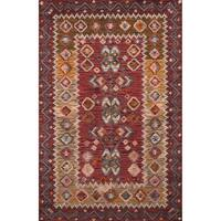 Momeni Tangier Red Hand-Tufted Wool Rug (5' X 8')