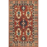 Momeni Tangier Red Hand-Tufted Wool Rug - 5' x 8'