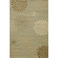Momeni Veranda Light Blue Dalia Indoor/Outdoor Rug (5' X 8') - 5' x 8'