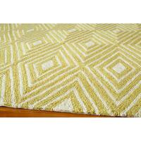 Momeni Veranda Yellow Diamonds Indoor/Outdoor Rug - 5' x 8'