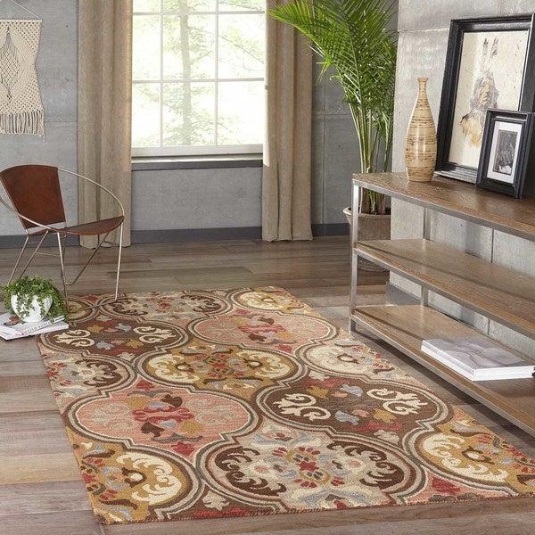 "Momeni Tangier Multicolor Hand-Tufted Wool Rug - Multi - 7'6"" x 9'6"""