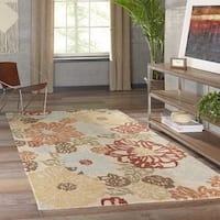 "Momeni Tangier Beige Hand-Tufted Wool Rug - 7'6"" x 9'6"""