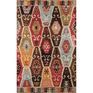 Momeni Tangier Multicolor Hand-Tufted Wool Rug (7'6 X 9'6)