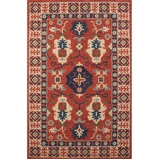 Momeni Tangier Red Hand-Tufted Wool Rug (7'6 X 9'6)
