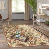 """Momeni Tangier Gold Hand-Tufted Wool Rug - 7'6"""" x 9'6"""""""
