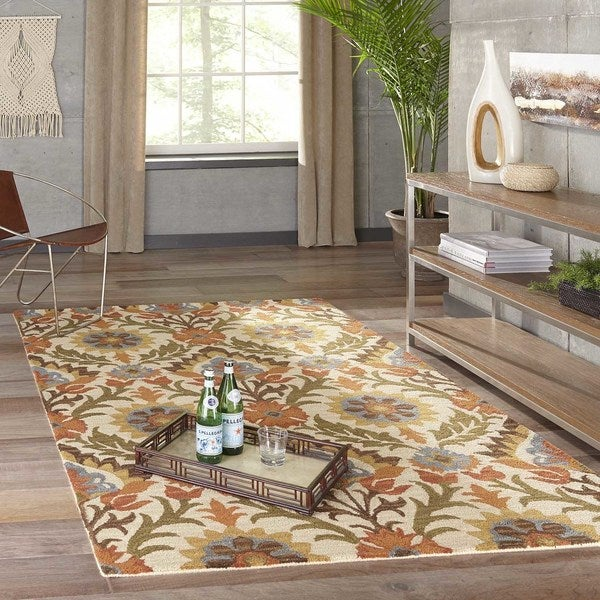 """Momeni Tangier Gold Hand-Tufted Wool Rug - 9'6"""" x 13'6"""""""