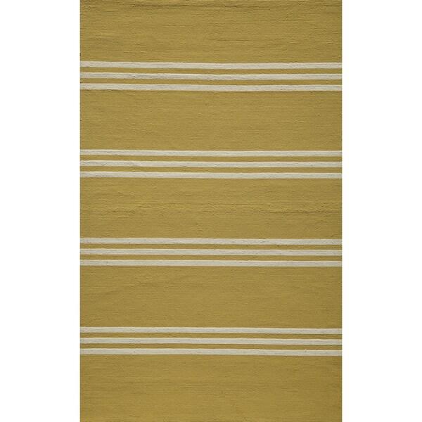 Momeni Veranda Lemon Stripes Indoor/Outdoor Rug - 8' X 10'