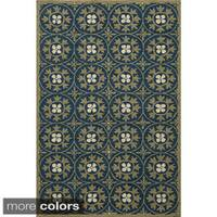 Momeni Veranda Blue Moroccan Tile Indoor/Outdoor Rug (8' x 10')