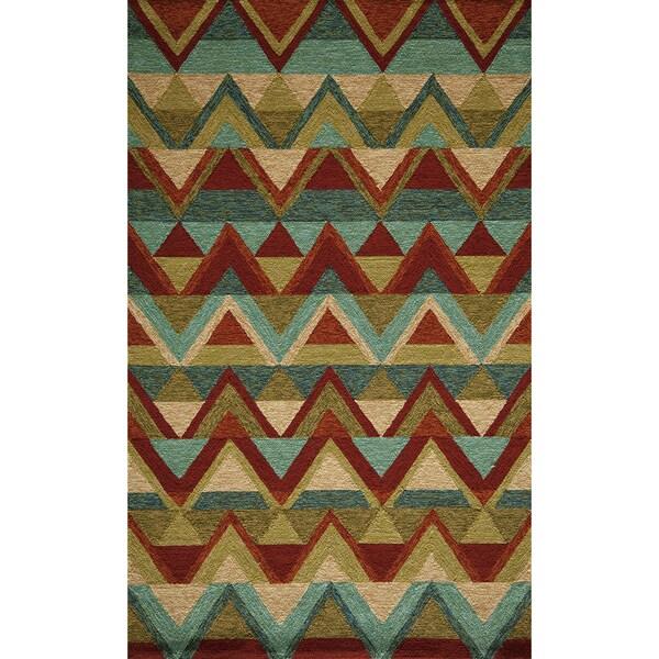 Momeni Veranda Multicolor Aztec Chevron Indoor Outdoor Rug Multi 8 X 10 Free Shipping Today 10002398