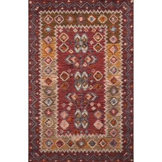 Momeni Tangier Red Hand-Tufted Wool Rug (8' X 11')