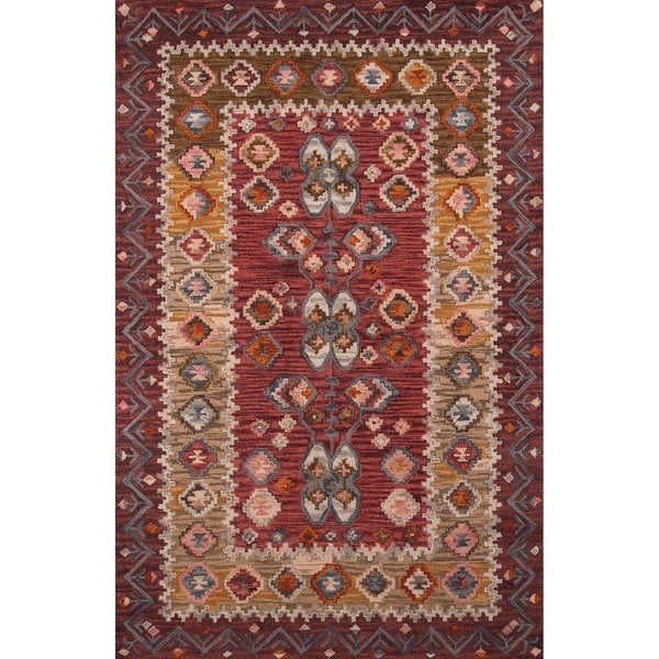 """Momeni Tangier Red Hand-Tufted Wool Rug - 9'6"""" x 13'6"""""""