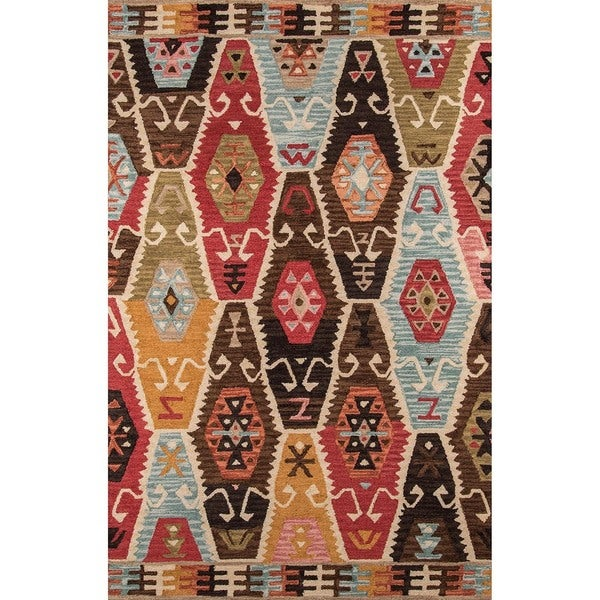 "Momeni Tangier Multicolor Hand-Tufted Wool Rug (9'6 X 13'6) - 9'6"" x 13'6"""