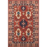 "Momeni Tangier Red Hand-Tufted Wool Rug - 9'6"" x 13'6"""
